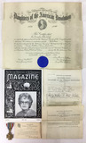 Daughters Of The Revolution Documents, Medal,