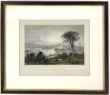 W H Bartlett Etching ' Boston & Bunker Hill'