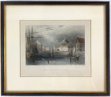 W H Bartlett Etching Faneuil Hall From The Water