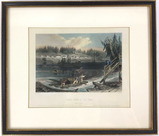 W H Bartlett Engraving Timber Slide At Les Chats