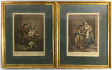 (2) Francis Wheatley Stipple Engravings