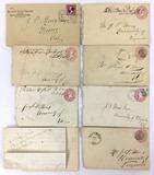 1890s Stamp Cancels, Envelopes, Letters