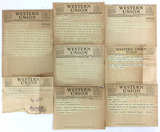 1920s-30s Western Union Telegraph Messages