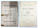 (2) 1890 Graduating Exercises Booklets Pamphlets