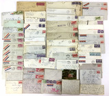 Large Collection 1940s-50s Letters & Envelopes