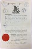 1889 United States Citizenship Certificate
