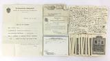 1917 Medicine Certificate & Assorted Ephemera