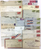 Ww2 Era Letters, Envelopes, Stamp Cancels
