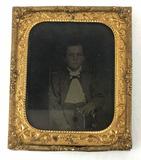 1800s Tinted Tintype Portrait Of Boy
