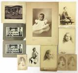 Antique 1800s Black & White Cabinet Photos