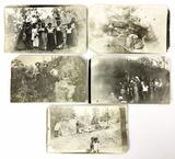 (5) Antique Black & White Photos Of Honduras