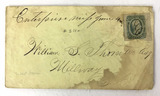 Confederate 10 Cent Stamp On Envelope