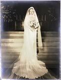 Antique Victorian Large Photo Bride Portrait