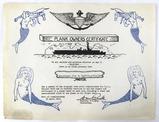 Ww2 U. S. S. Belleau Wood Plank Owners Certificate