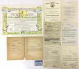 Original Ww2 Naval Enlistment & Discharge Papers