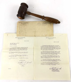 1933 Congressional Gavel & Letters