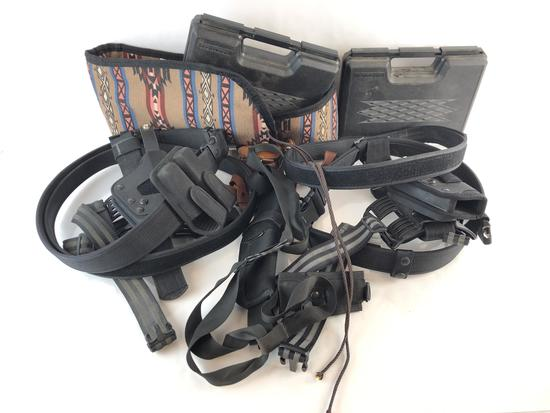 Group of Tactical Holsters & Gun cases