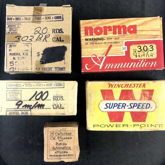 Group Of Vintage Varying Ammunition