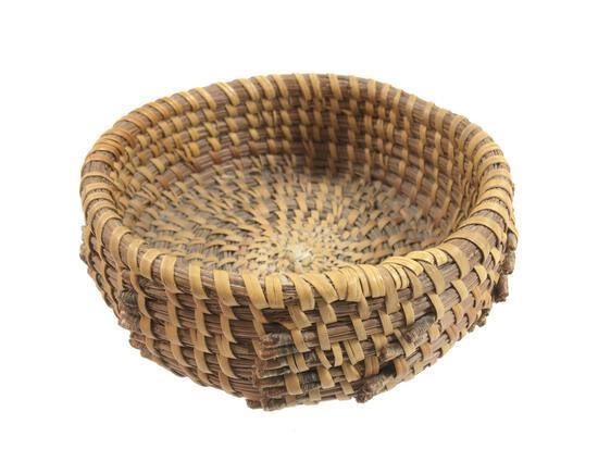 Pala Reservation Pine Needle Woven Basket