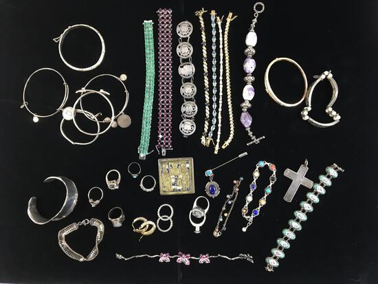Silver & Sterling Bracelets, Earrings, & Rings