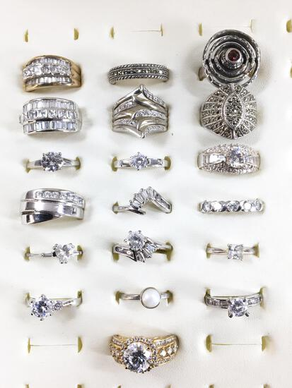(19) Assorted Sterling Silver Rings