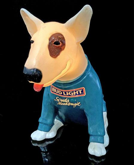 Vintage Spud McKenzie Bud Light Dog Light