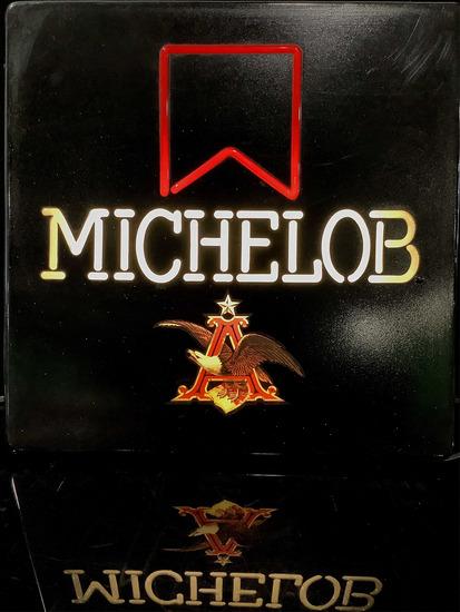Plastic Michelob Illuminated Advertising Bar Sign