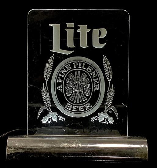 Miller Lite Beer Illuminated Advertising Bar Sign
