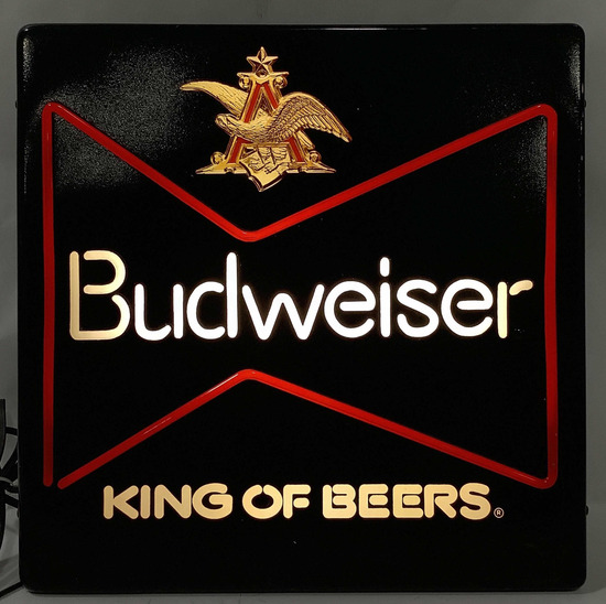 Budweiser King Of Beers Illuminated Bar Sign