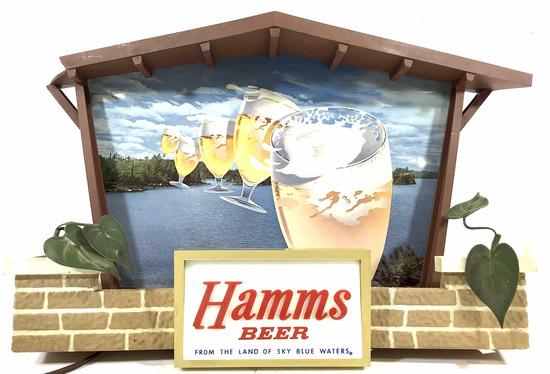 Hamms Beer Illuminated Advertising Bar Sign
