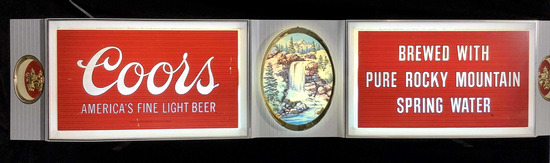 Vintage Coors Beer Illuminated Advertising Bar Sign
