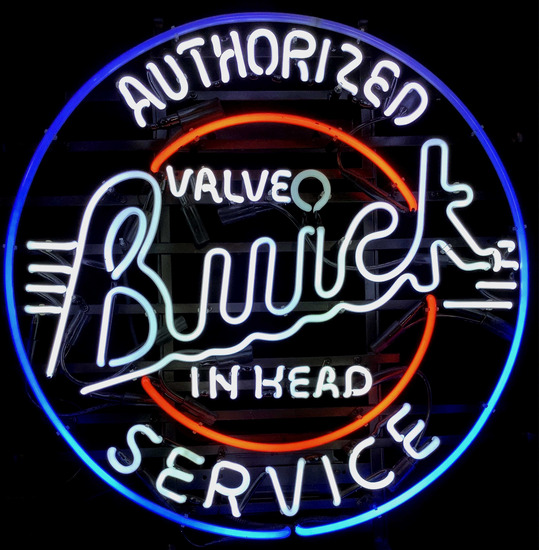 Vintage Neon Buick Advertising Sign