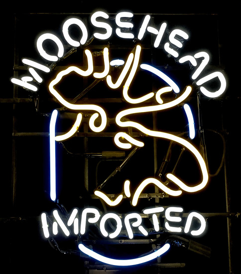 Moose Head Imported Beer Neon Advertising Sign