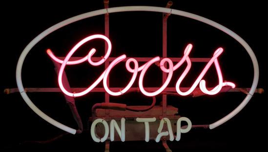 Vintage Coors Beer Neon Advertising Bar Sign