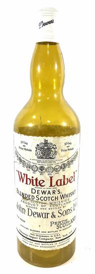 White Label Whiskey Advertising Large Bottle Decor