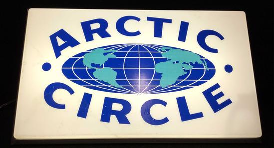 Vintage Plastic Arctic Circle Illuminated Sign