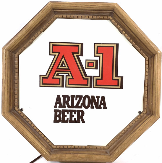 A-1 Arizona Beer Illuminated Advertising Sign