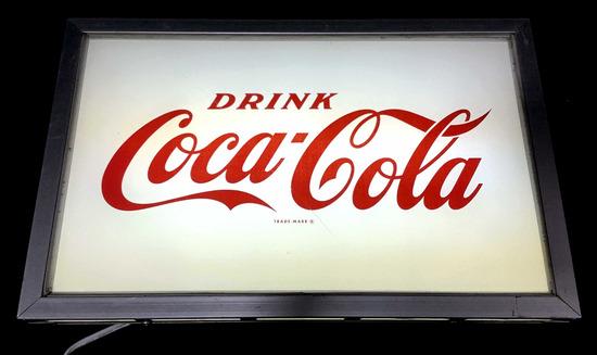 Vintage Coca Cola Light Up Box Bar Sign