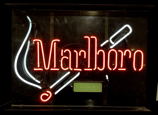 Vintage Marlboro Neon Advertising Bar Sign