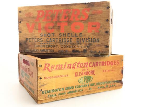 (2) Ammunition Shipping Crates Feat. Remington