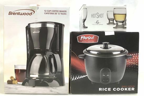 (3pc) Parini Rice Cooker & Coffee Maker