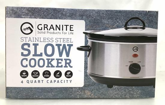 Granite Stainless Steel 4 Quart Slow Cooker