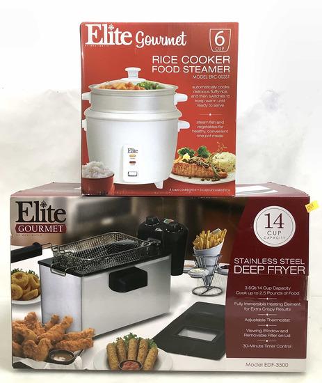 (2pc) Deep Fryer & Rice Cooker