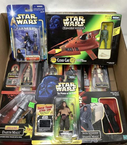 (9pc) Star Wars Cloud Car & Boba Fett Figures