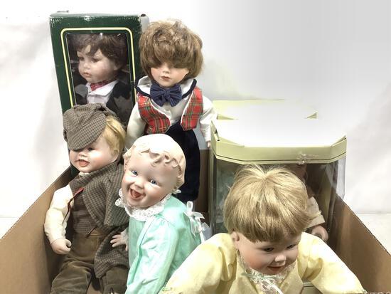 (7pc) Heritage Mint & Collectible Memories Dolls