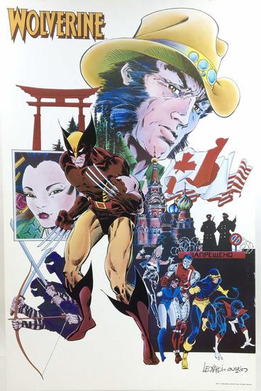 Wolverine Poster By Rick Leonardi & Terry Austin