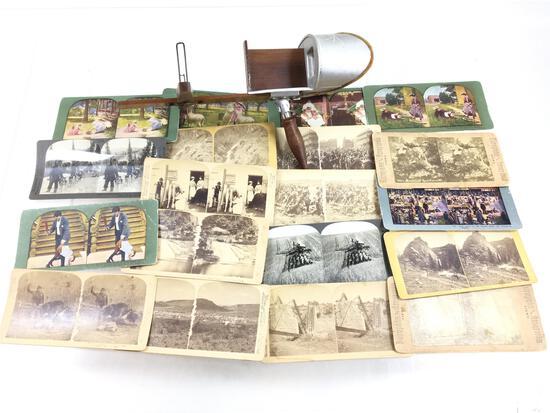 Vintage Keystone & Underwood Stereoscope Cards