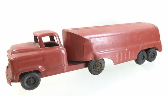 Vintage Buddy L Red Pressed Steel Tanker Truck