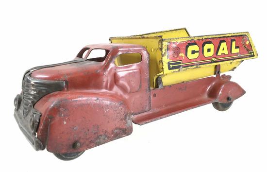 Vintage Marx Pressed Steel Coal Hauler