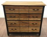 Rustic Country Style Oak Dresser